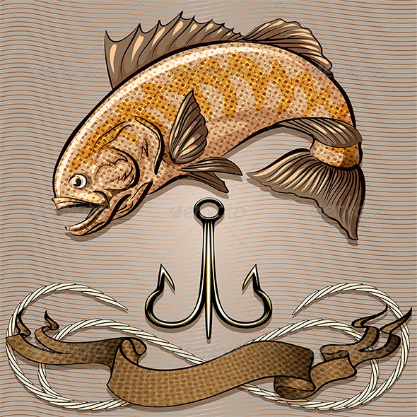 GraphicRiver Fish and Treble Hook 6569691
