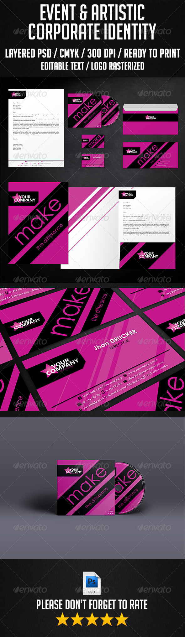 GraphicRiver Event and Artistic Corporate Identity 6569808