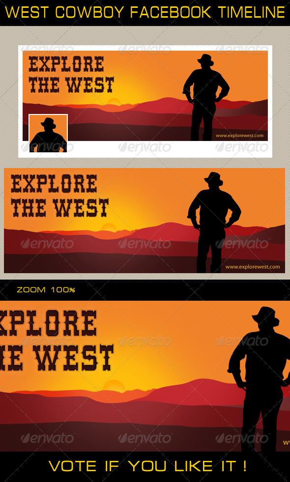 GraphicRiver West Cowboy Facebook Timeline 6569809
