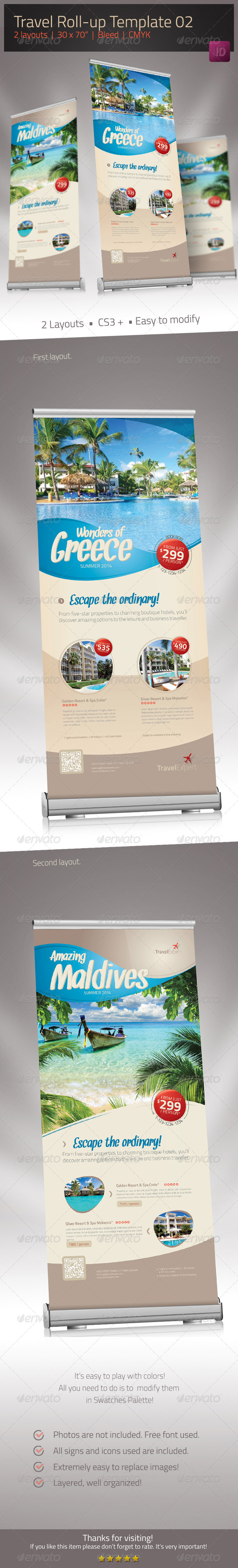 GraphicRiver Travel Roll-up Banner 02 6569938