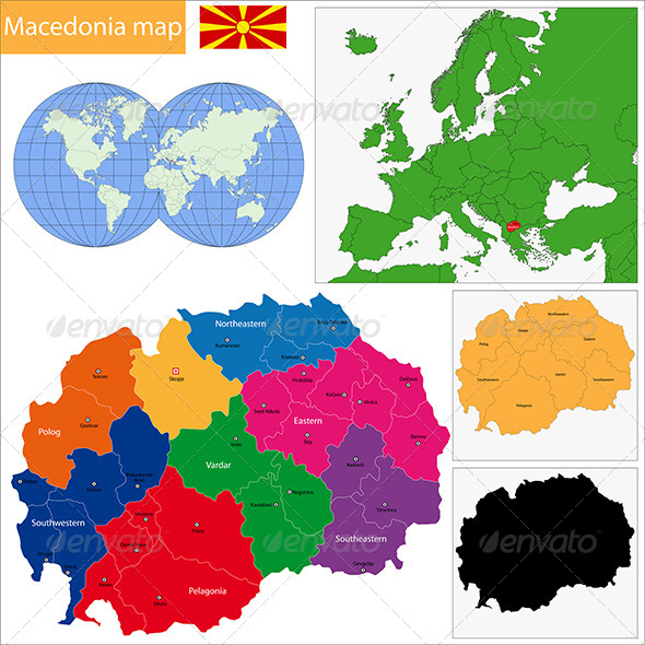 GraphicRiver Macedonia Map 6570233