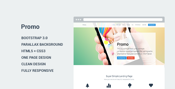 Promo - Landing Page Template - Marketing Corporate