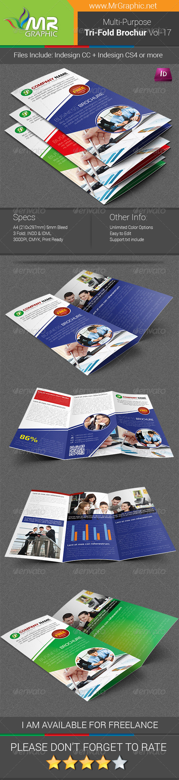 GraphicRiver Multipurpose Business Tri-Fold Brochure Vol-17 6570273