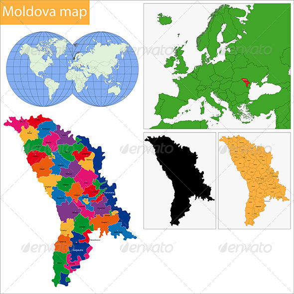 GraphicRiver Moldova Map 6570278
