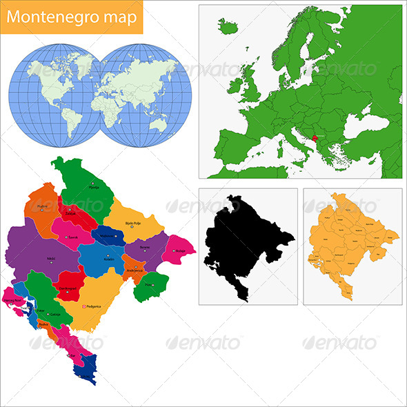GraphicRiver Montenegro Map 6570344