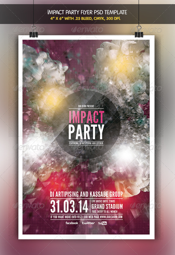 Impact Party | Flyer Template - Clubs & Parties Events