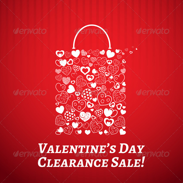 GraphicRiver Shopping Bag for Valentines Day 6570625