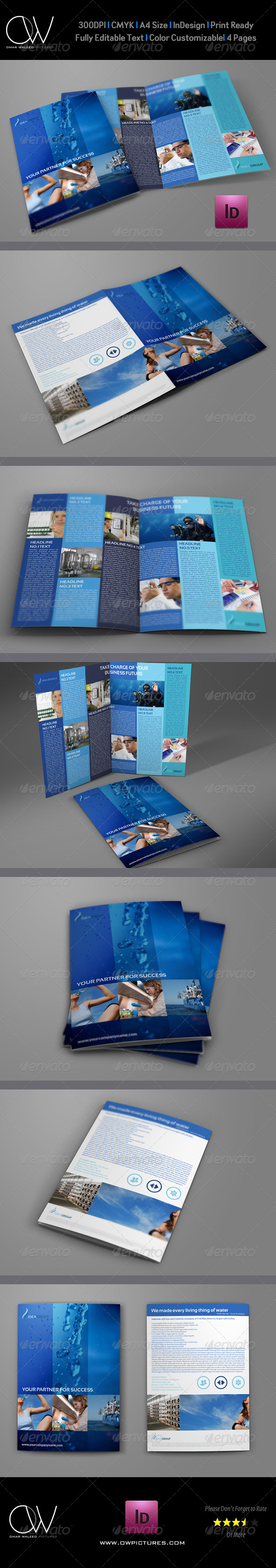 GraphicRiver Company Brochure Bi-Fold Template Vol 16 6570715