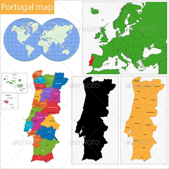 GraphicRiver Portugal Map 6570744