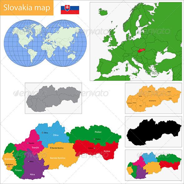GraphicRiver Slovakia Map 6570787