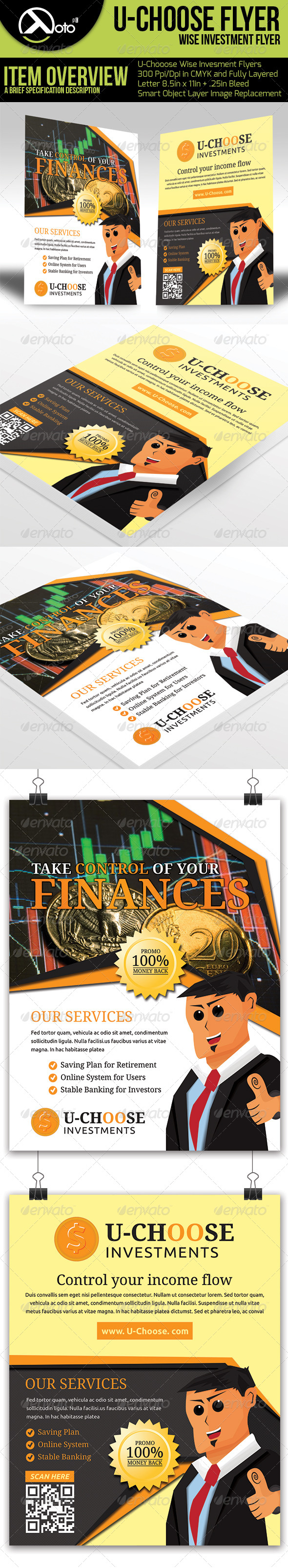 GraphicRiver U Choose Online Investment Flyers 6570826
