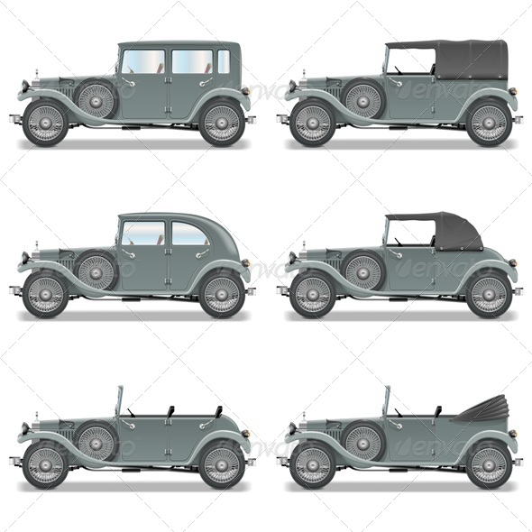GraphicRiver Vector Retro Cars 6570836