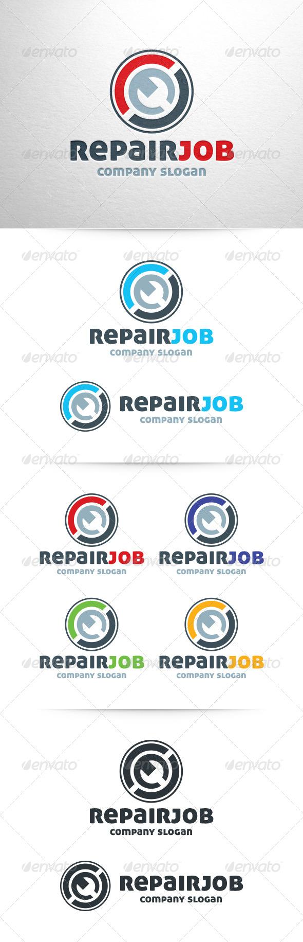 GraphicRiver Repair Job Logo Template 6571276