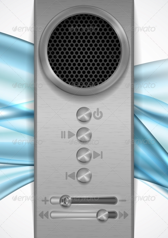 GraphicRiver Abstract Speaker Concept Design 6571336