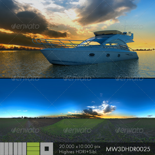 3DOcean MW3DHDR0025 Sunset With a Deep Blue Sky 6571457