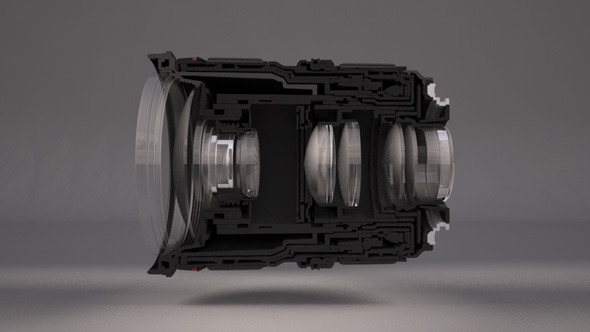 3DOcean Realistic Lens For Camera 6571490