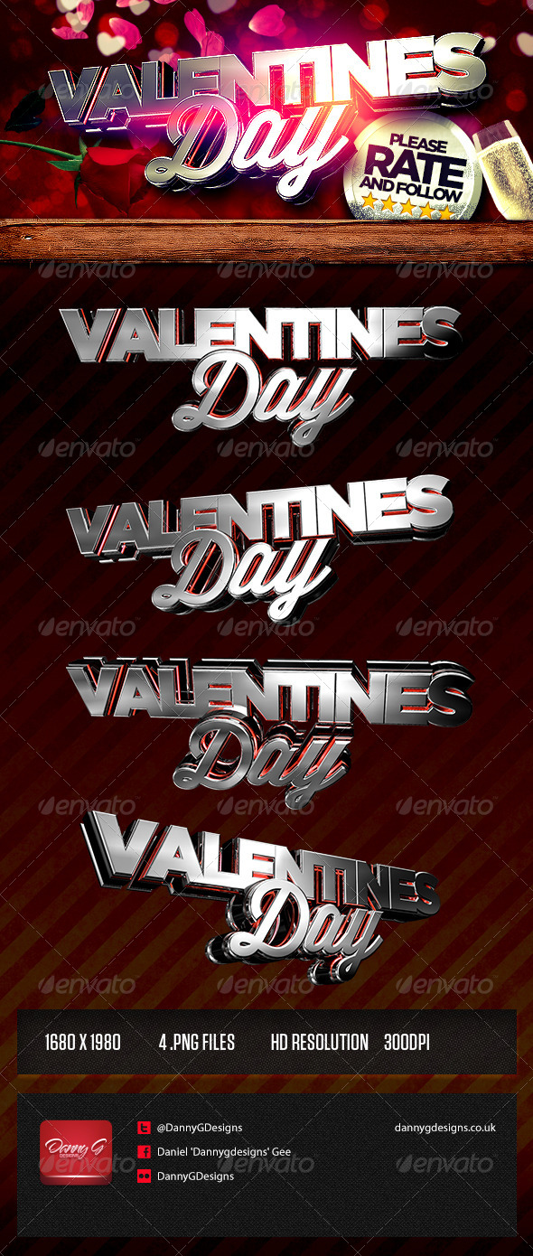 Valentines Day 3d Renders - Text 3D Renders