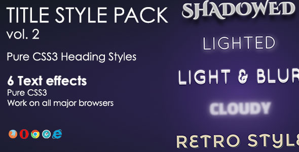 CodeCanyon Heading Style Pack Vol 2 6571735