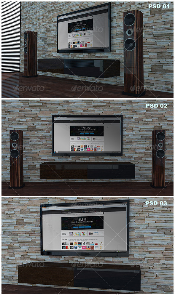 Living Room Tv Mock-Up