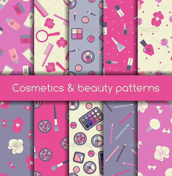 GraphicRiver Cosmetics Seamless Pattern 6571822