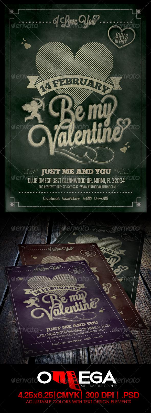 GraphicRiver Vintage Valentine Vol II 6571850