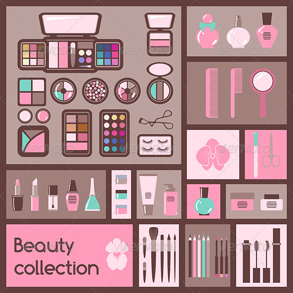 GraphicRiver Set of Cosmetics Icons 6571986