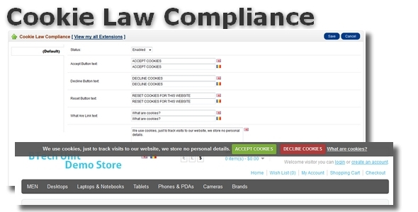 CodeCanyon Cookie Law Compliance for OpenCart 6572441
