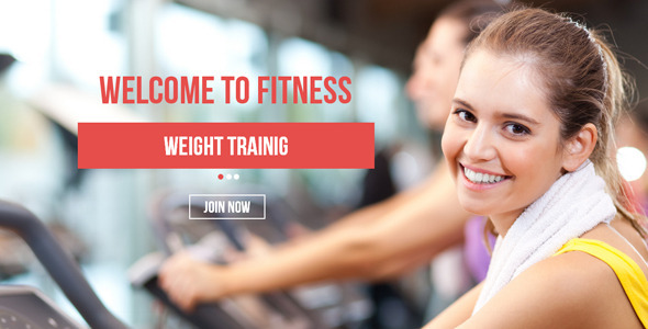 Fitness Muse Template - Corporate Muse Templates
