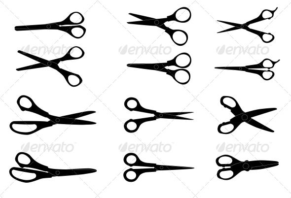 GraphicRiver Set of Scissors 6572890