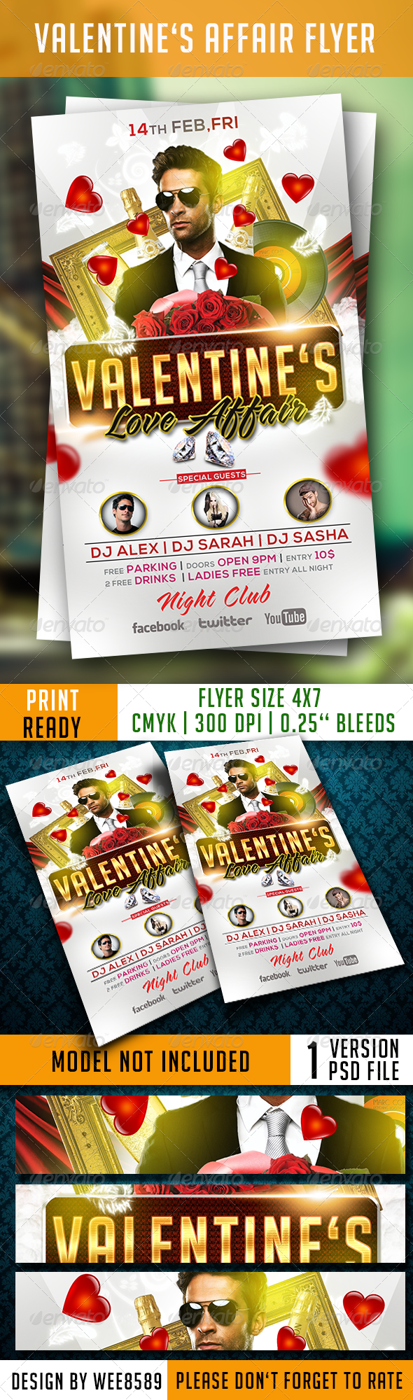 GraphicRiver Valentine s Affair Flyer Template 6572940
