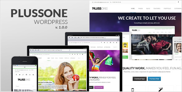 ThemeForest Plussone Responsive WordPress Business Template 6466377