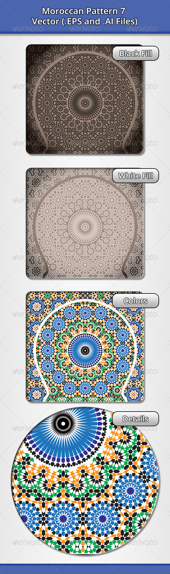 Moroccan Pattern 7 - Decorative Vectors
