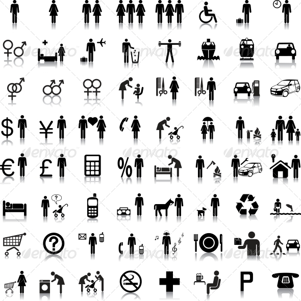Website and Internet Icons People