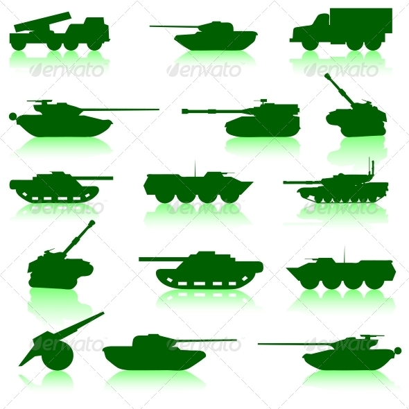 GraphicRiver Collection Set of Tanks of Guns 6573552