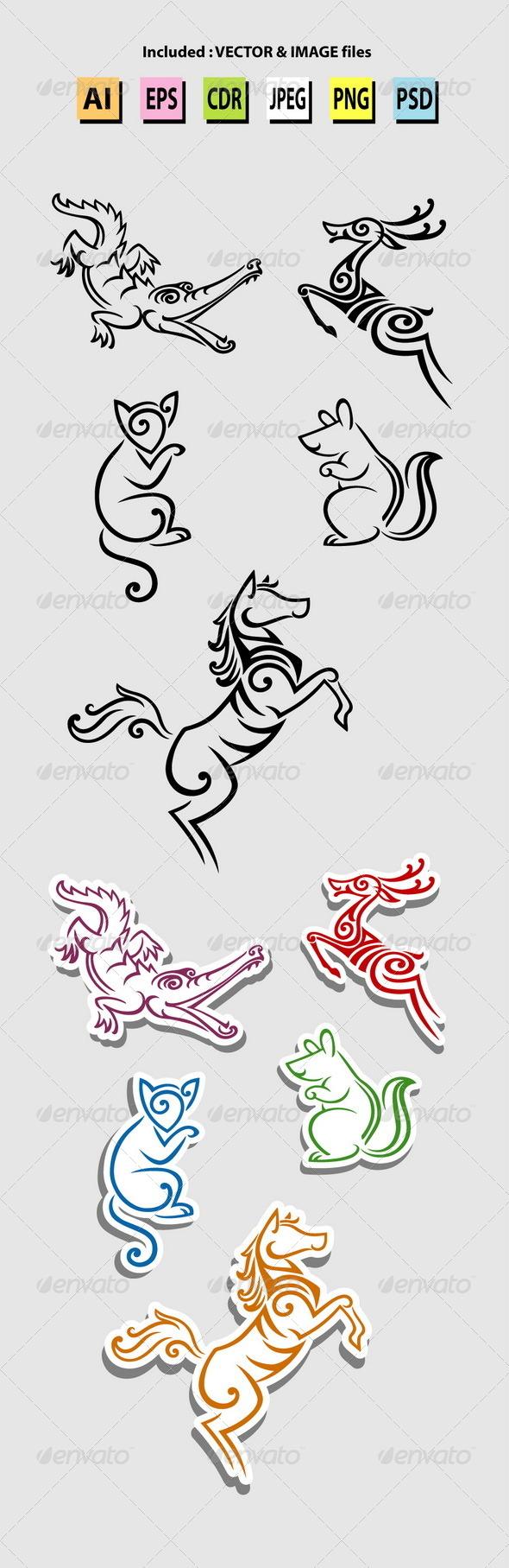 GraphicRiver Animal Symbols 6573567