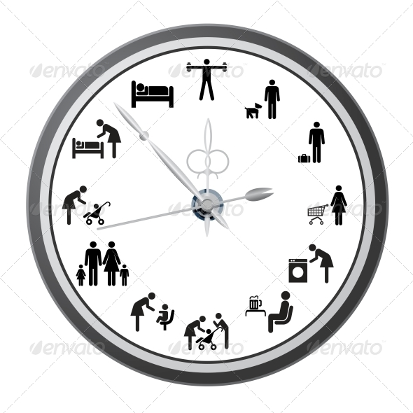 GraphicRiver Clock with People Icons 6573576