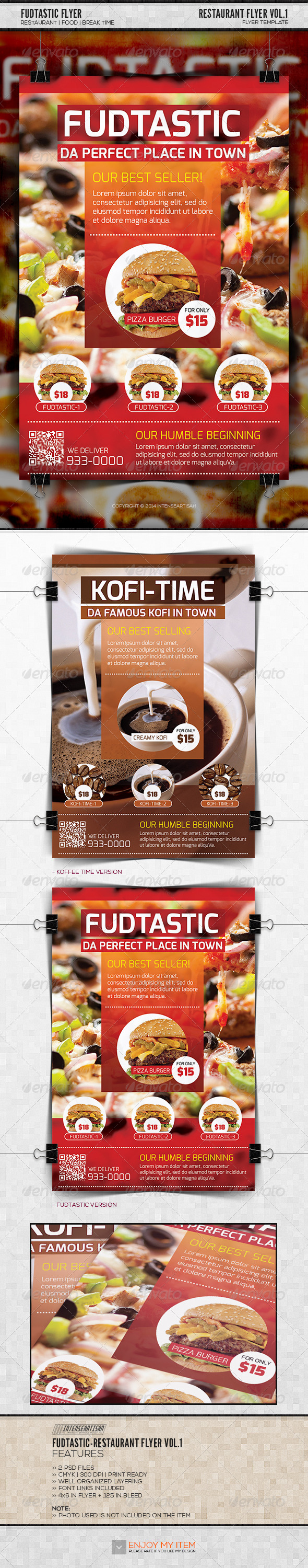Fudtastic Flyer Template - Restaurant Flyers
