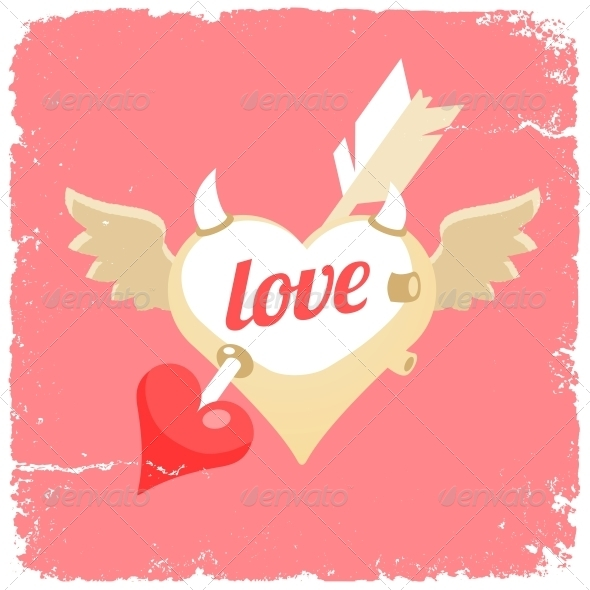 GraphicRiver Flying Heart 6574382