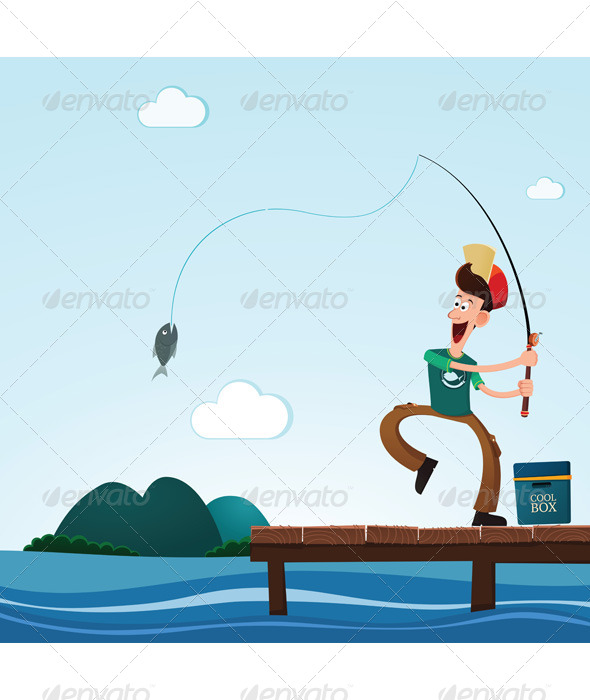 GraphicRiver Fishing in the Lake 6574417