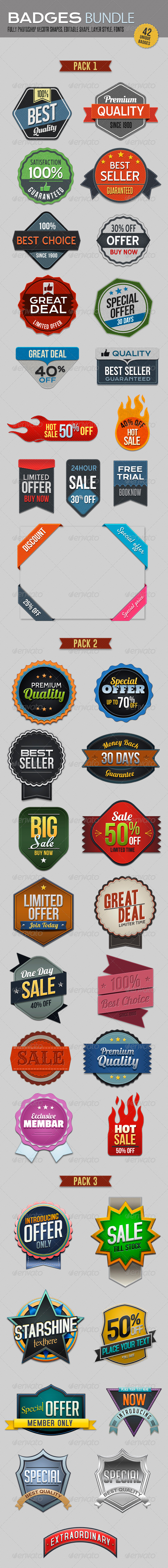 GraphicRiver Badges Bundle 6574453