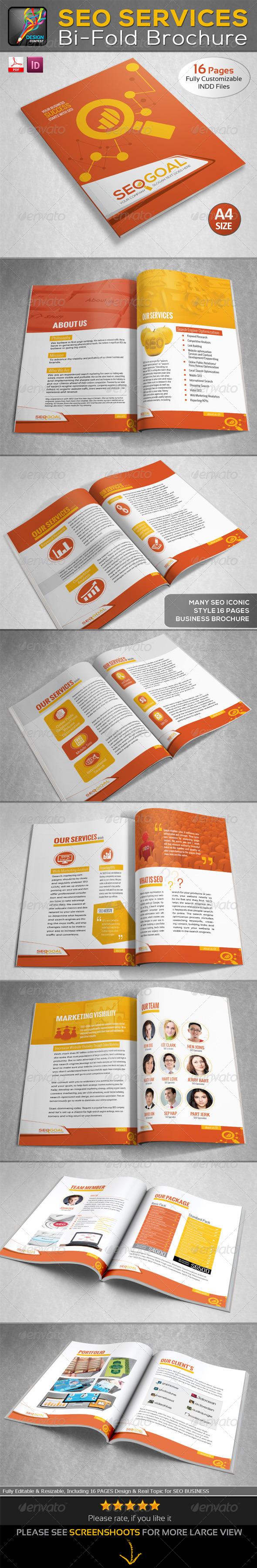 GraphicRiver SEO Goal SEO Services Bi-fold Brochure 6574493