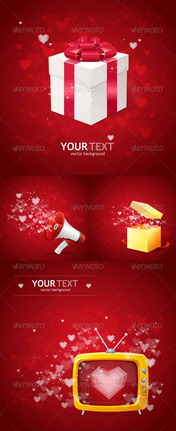 GraphicRiver Valentines Day Cards Background 6574557
