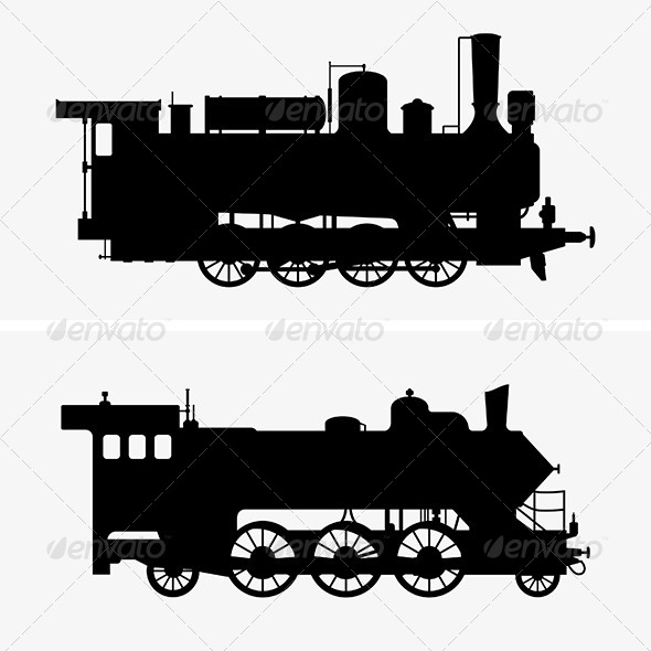 GraphicRiver Steam Locomotives 6574616