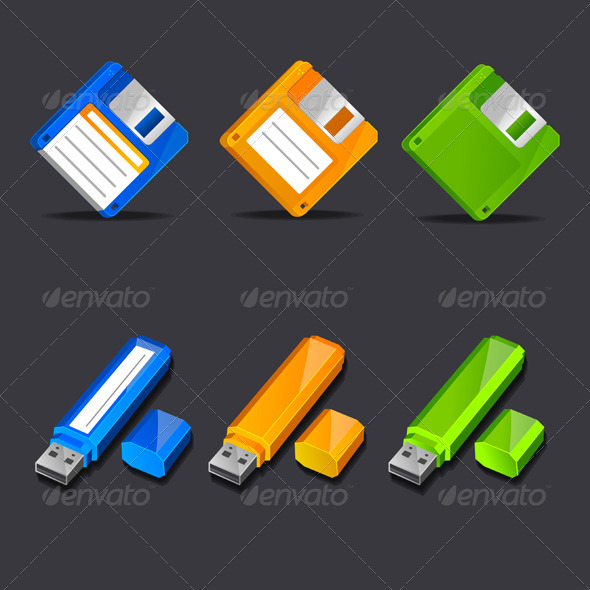 GraphicRiver Floppy Disk with Flash Memory 6574746