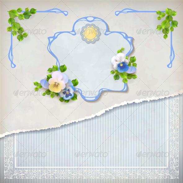 GraphicRiver Shabby Chic Vintage Wedding Floral Invitation 6574813