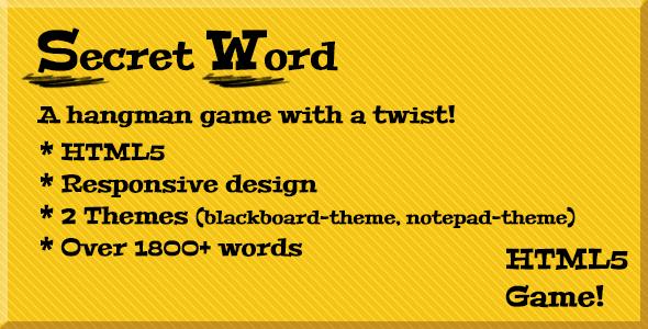 CodeCanyon Secret Word a hangman game 6575293