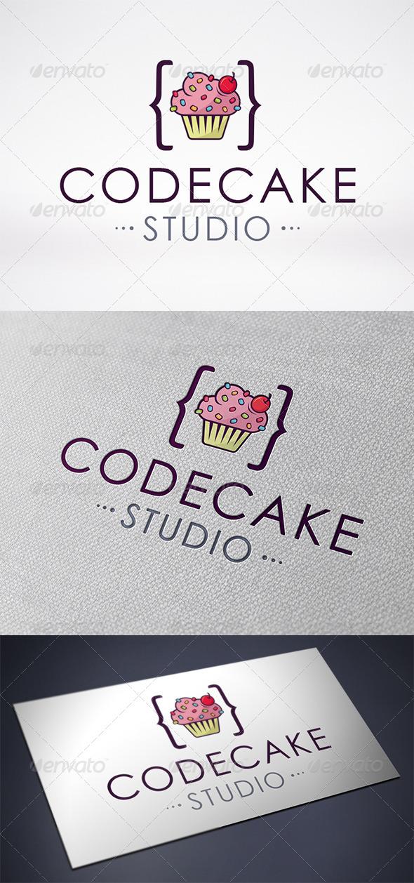 GraphicRiver Code Cupcake Logo Template 6575425