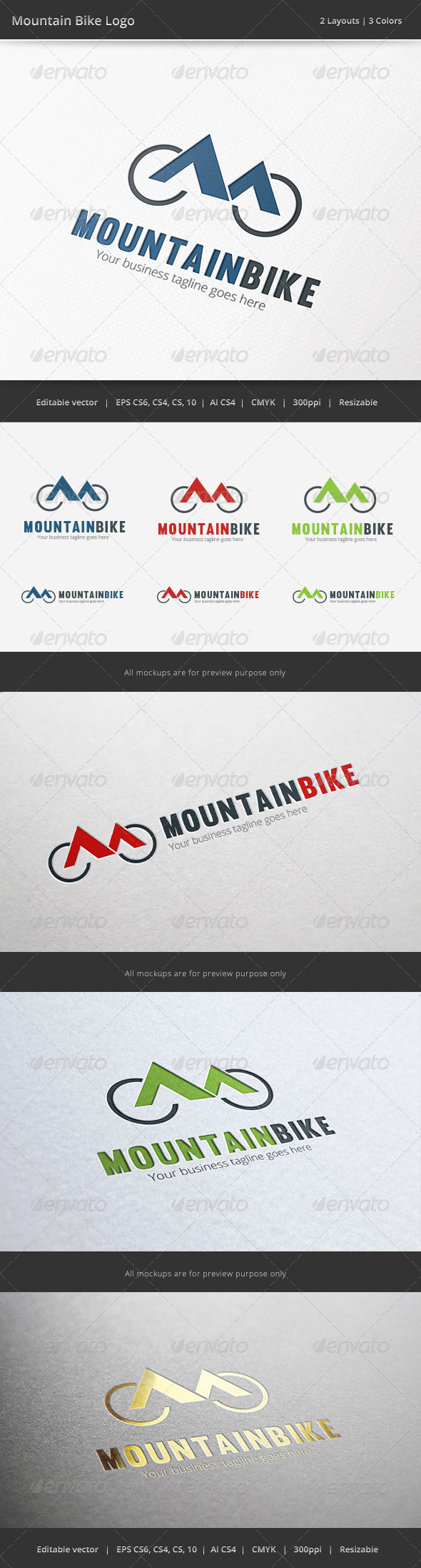 GraphicRiver Mountain Bike Bicycle Logo 6575435