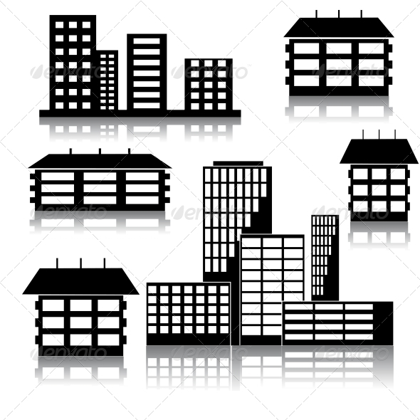 GraphicRiver Different Kind of Houses and Buildings 6575466