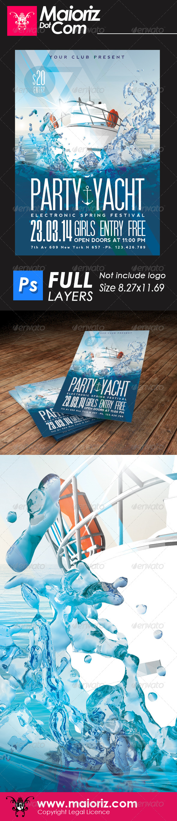 GraphicRiver Yacht Party Flyer 6575558